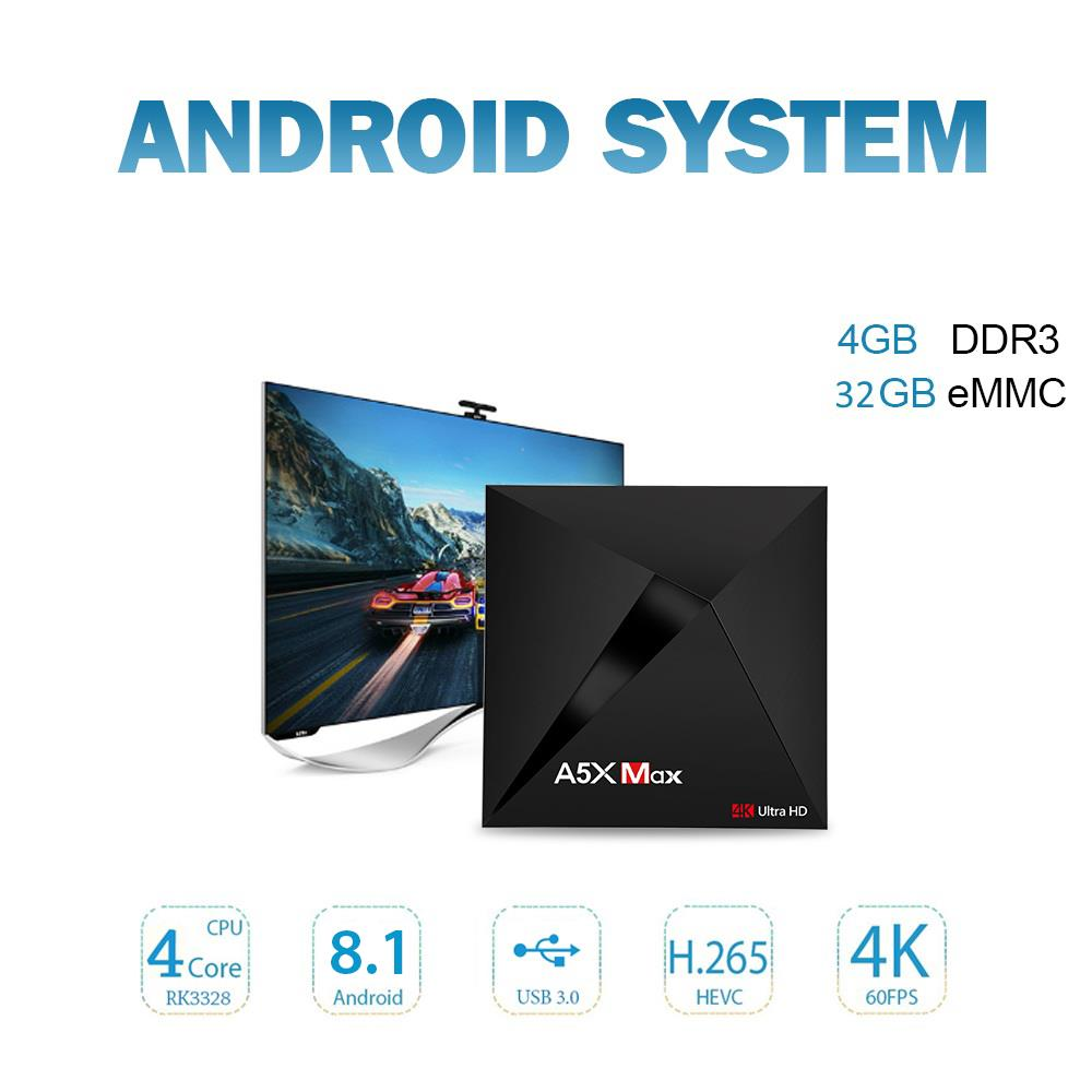 A5X Max Android 8.1 Box 4GB 32GB - Box